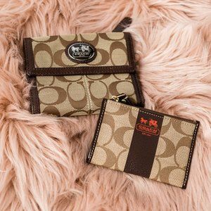 Coach Trifold Wallet and Change Purse